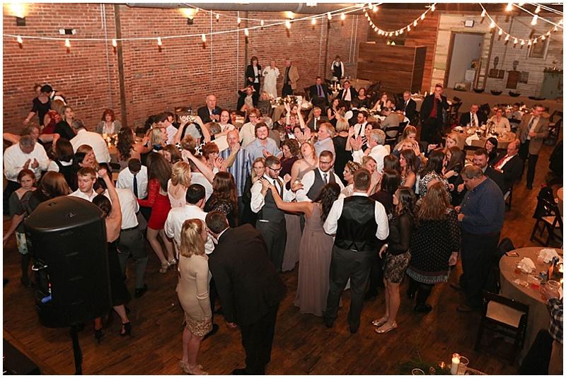 warehouse wedding dancing