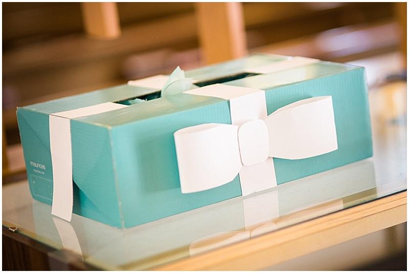 tiffany inspired card box