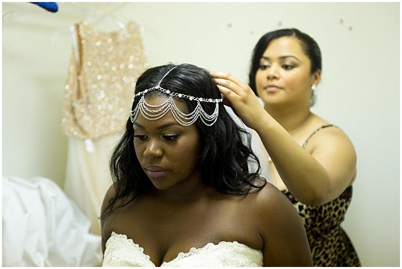head band bridal hair