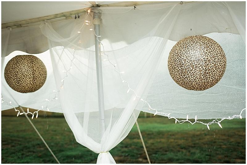leopard print wedding reception decor