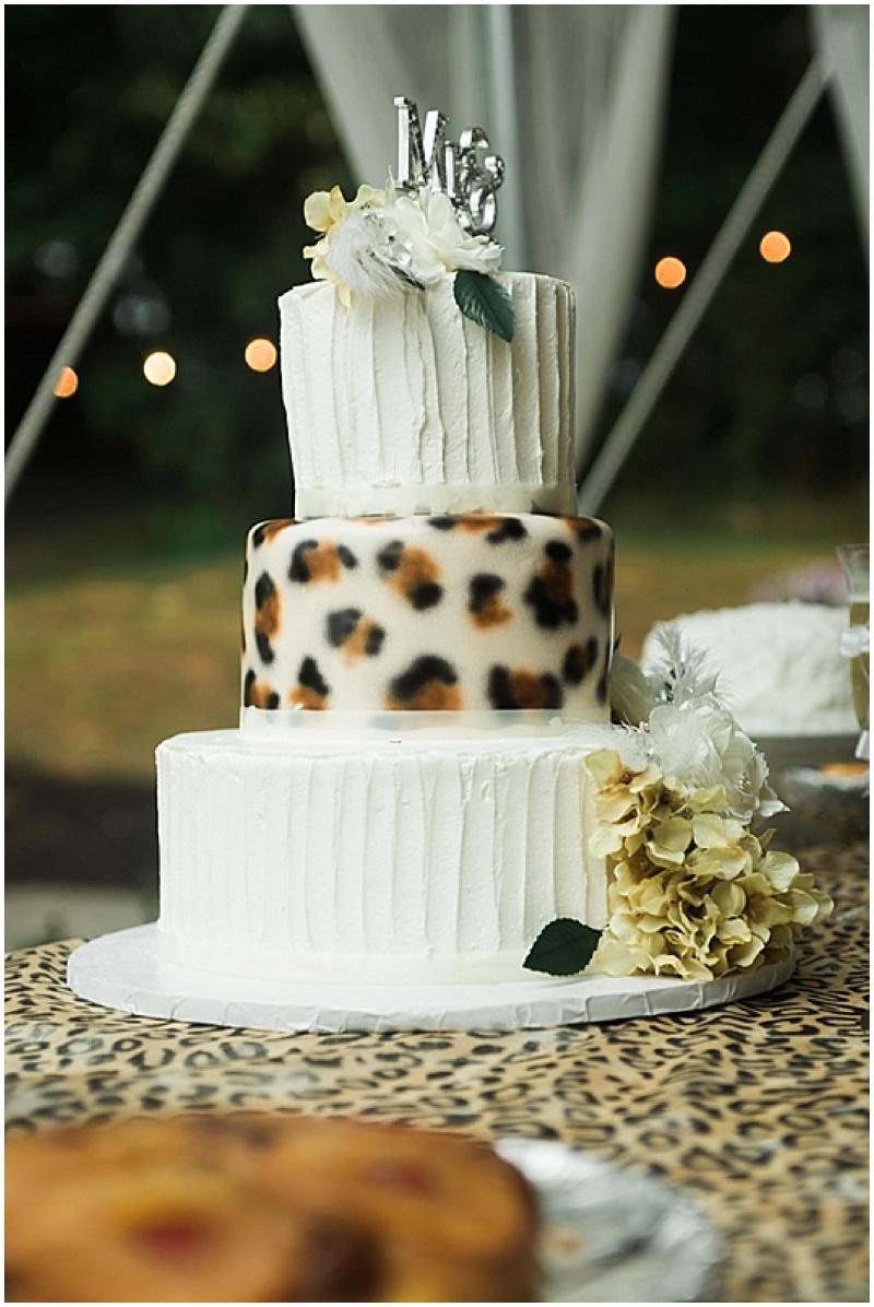 summer wedding with leopard print details