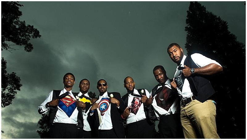 groomsmen superhero shirts