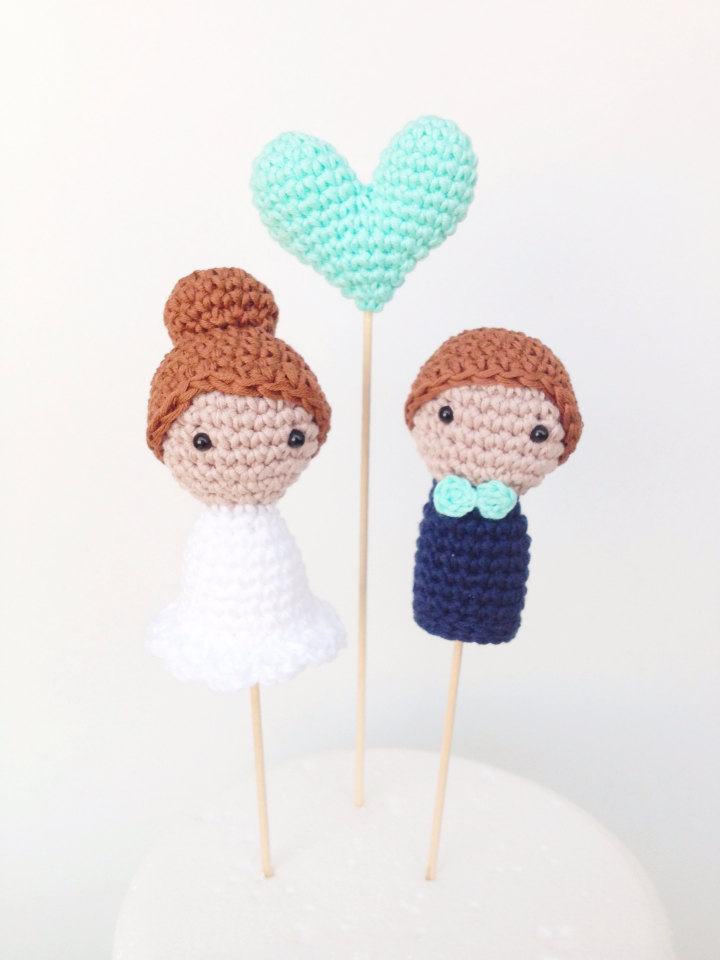 crafted cake topper by MarigurumiShop on Etsy