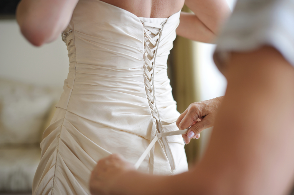 corset back gown