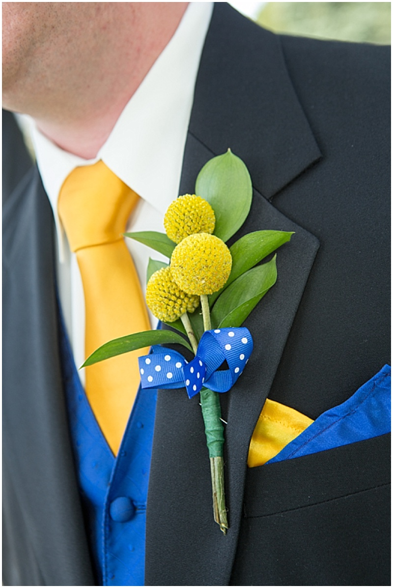 Blue and Yellow Wedding with Seaside Details | The Budget Savvy Bride