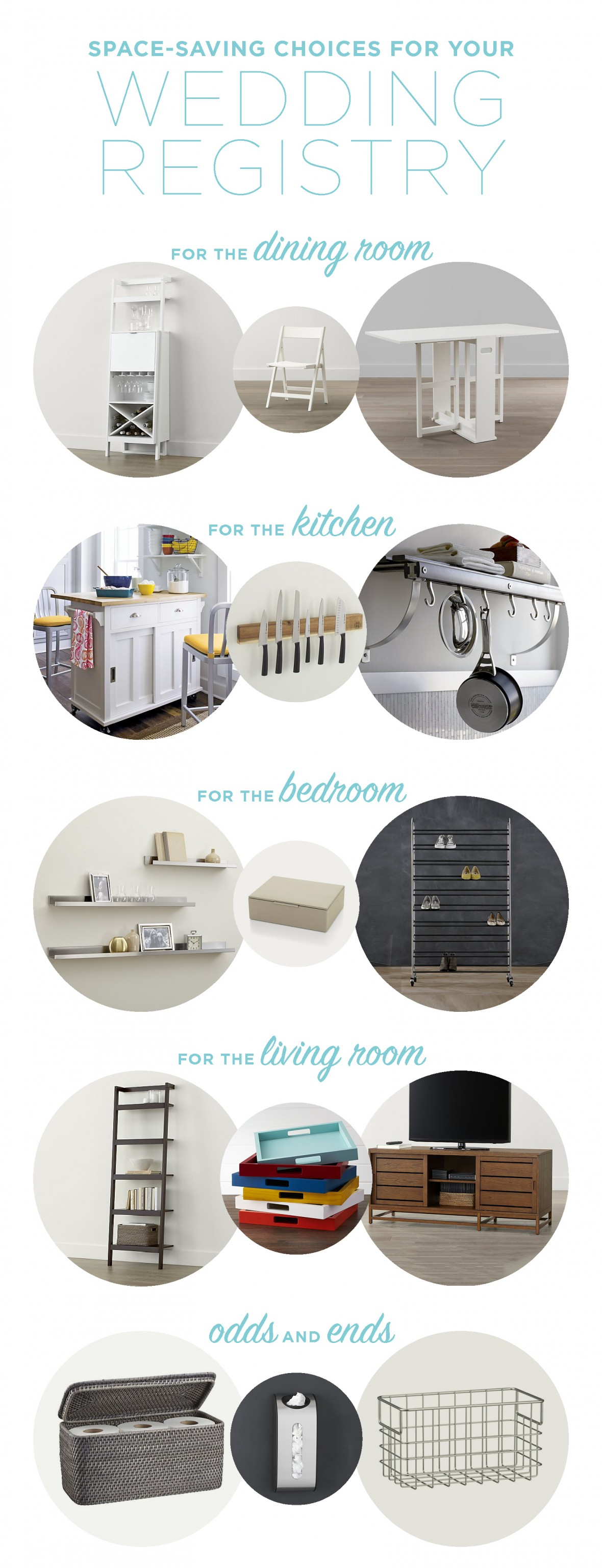 Registry Favorites For Couples With Small Spaces