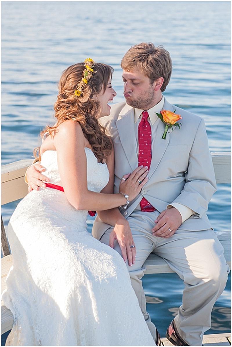 water wedding photos