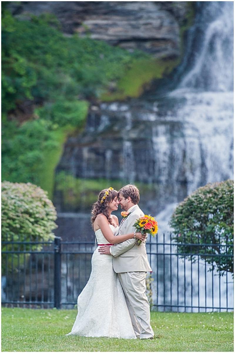 waterfall wedding photos