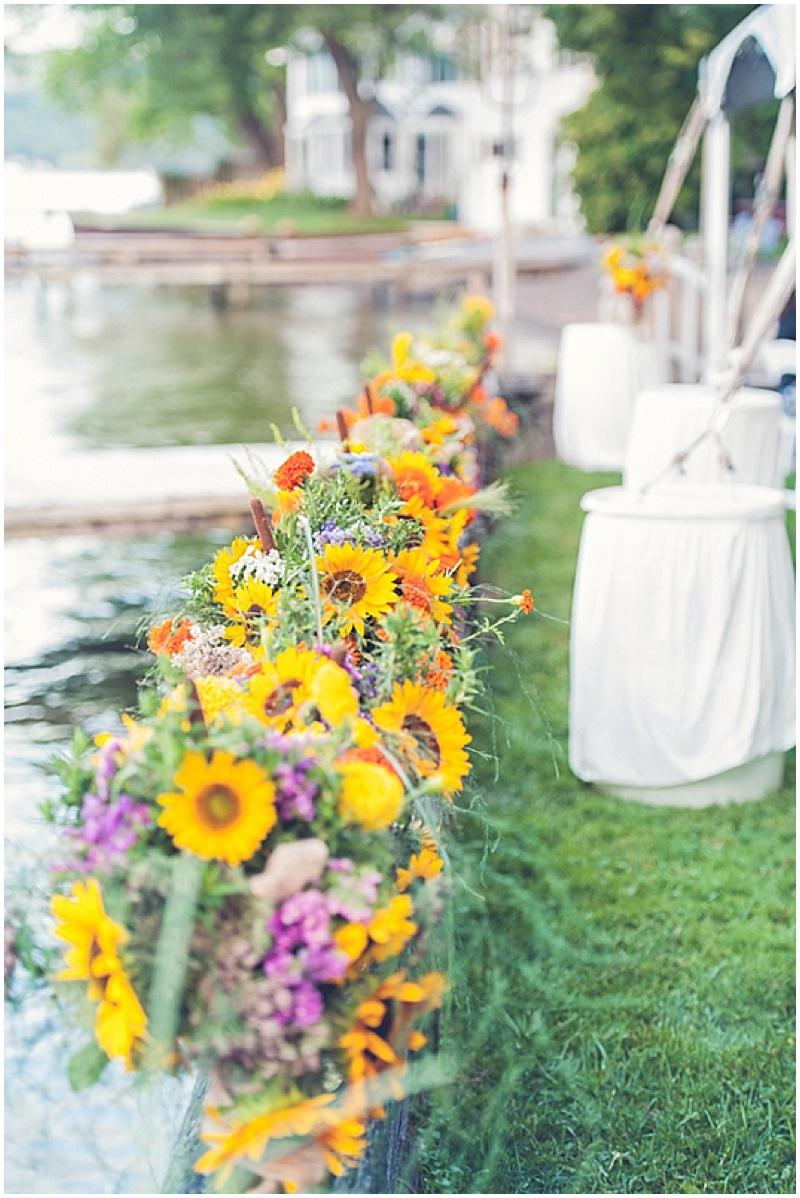 wildflower wedding reception decor