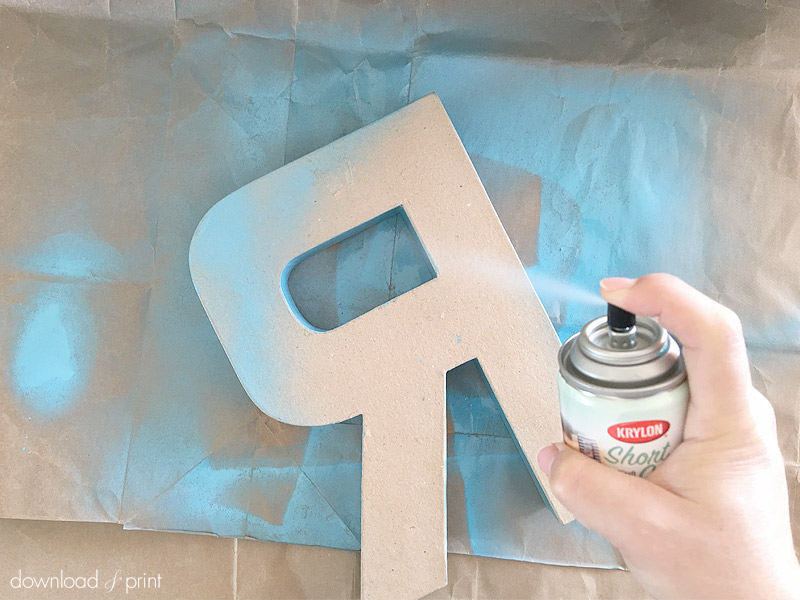 Download-and-Print-Tissue Paper Flower Letters- spraypaint letter
