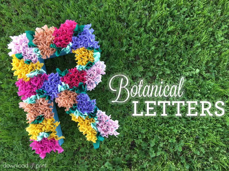 Download and Print Tissue Paper Flower Letters DIY Tissue Paper