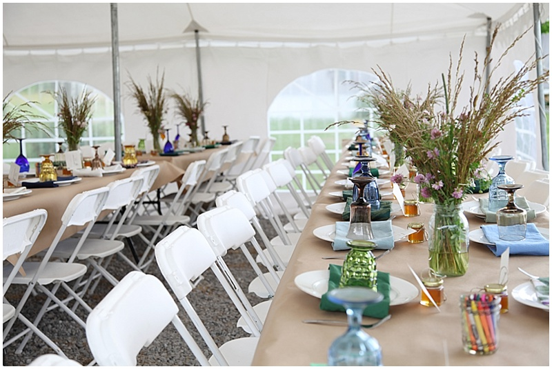 kraft paper wedding decor