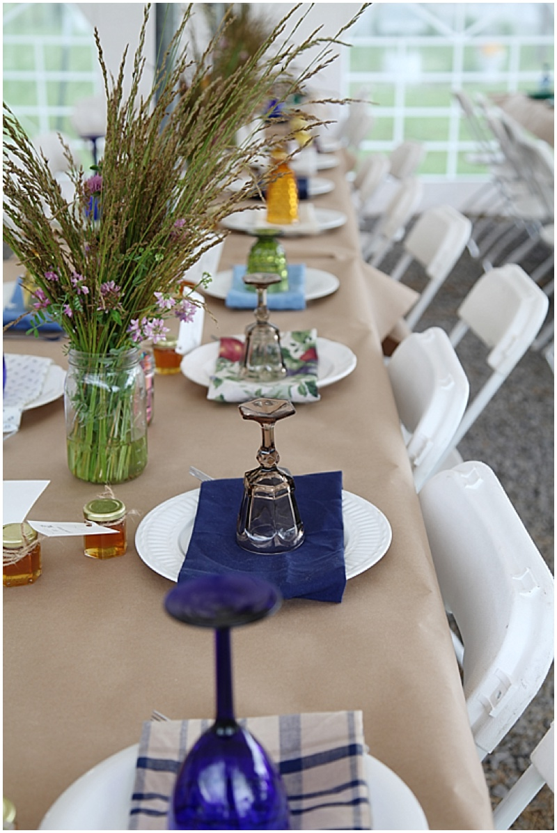 mix and match wedding reception decor
