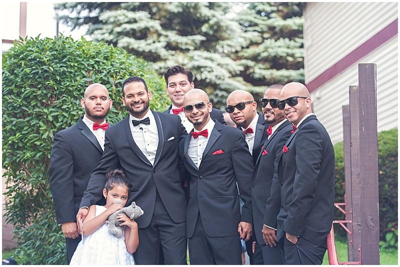 black tuxedo groomsmen attire