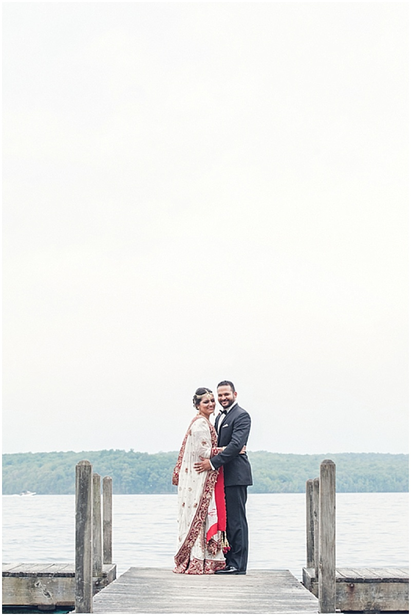 waterfront wedding photos