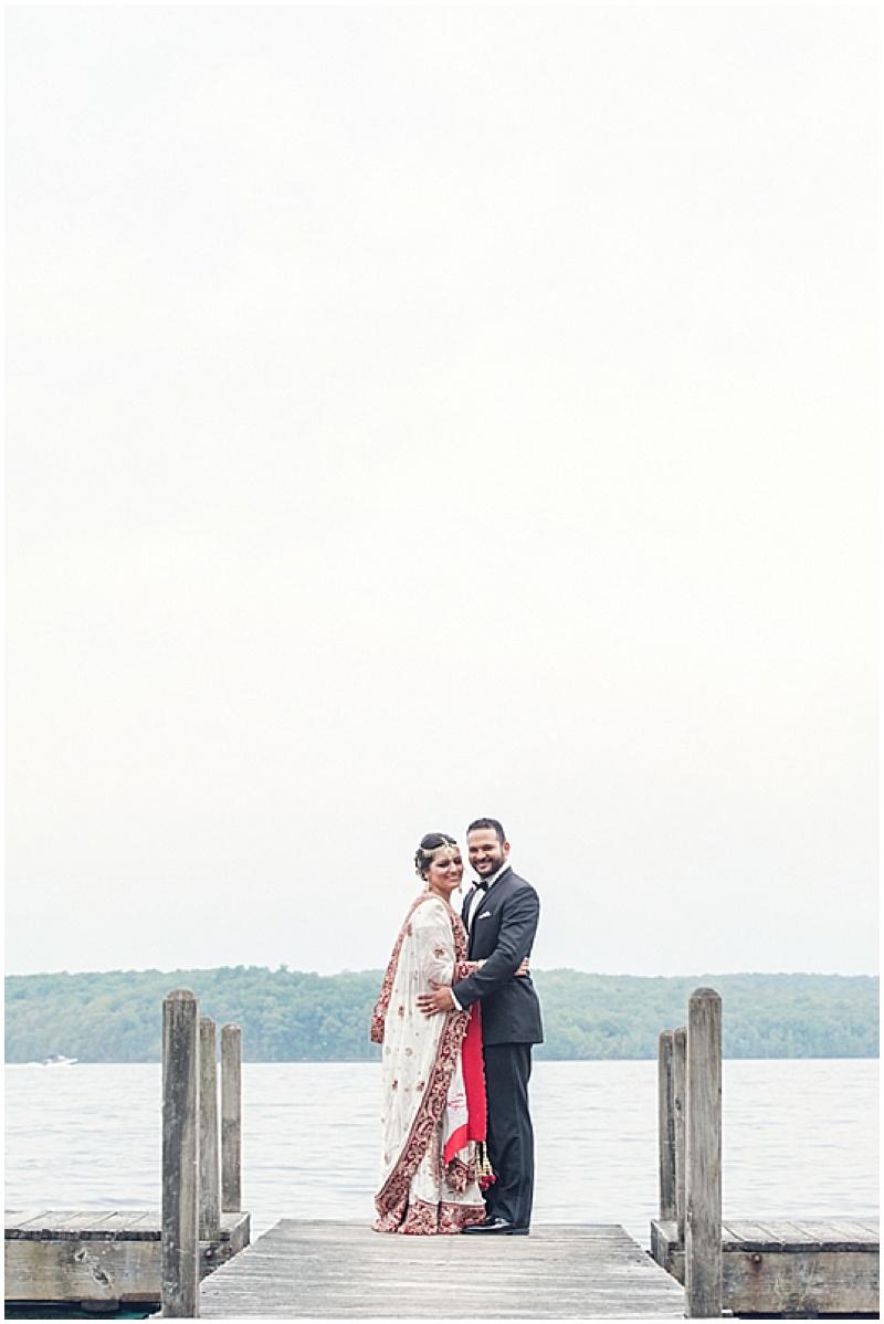 waterfront wedding photos