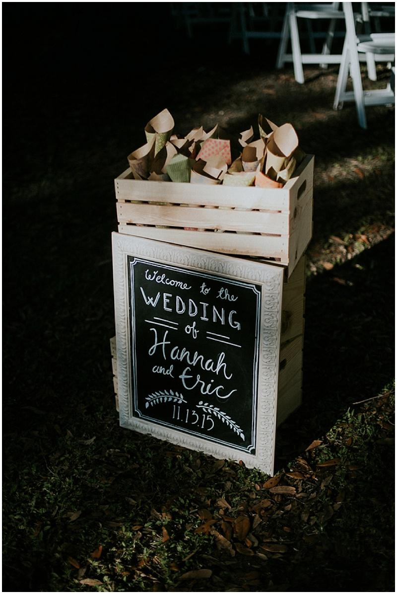 chalkboard wedding signage