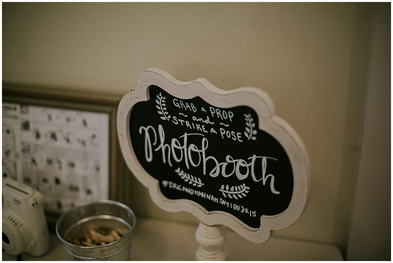 chalkboard wedding signage - handmade florida wedding