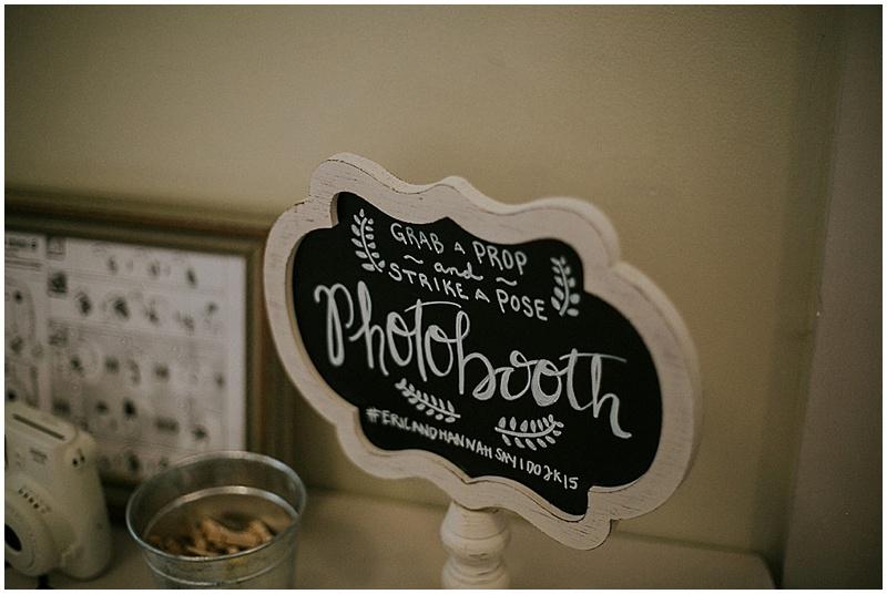 chalkboard wedding signage - handmade florida wedding