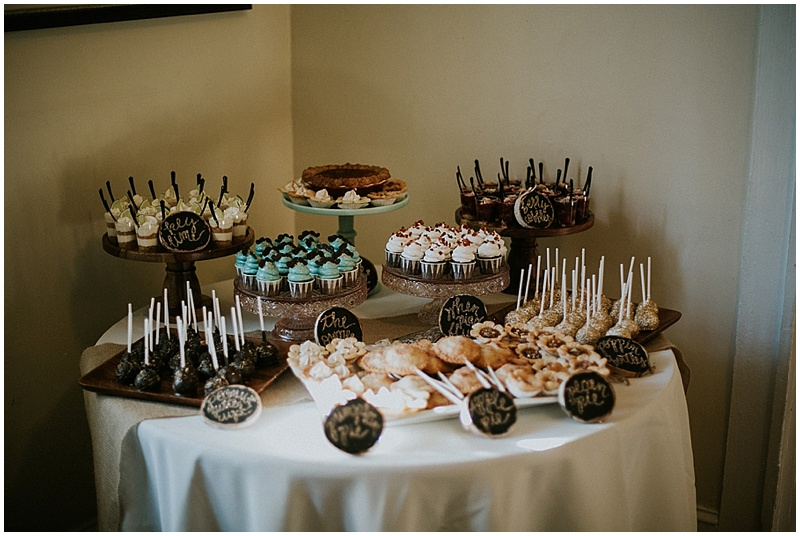 wedding dessert table - handmade florida wedding
