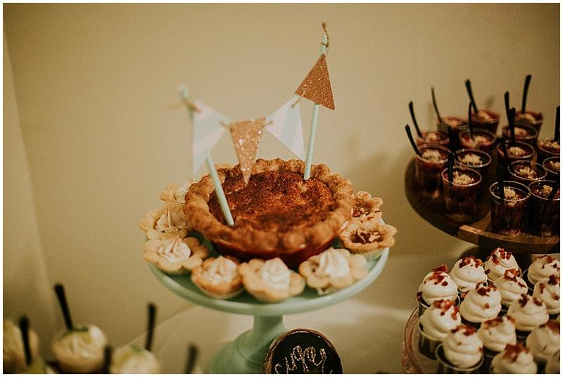 wedding dessert table - handmade florida wedding