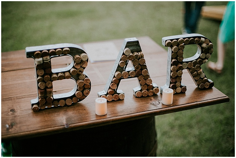homemade wedding signage - handmade florida wedding