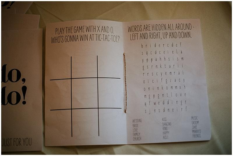 wedding activity booklet