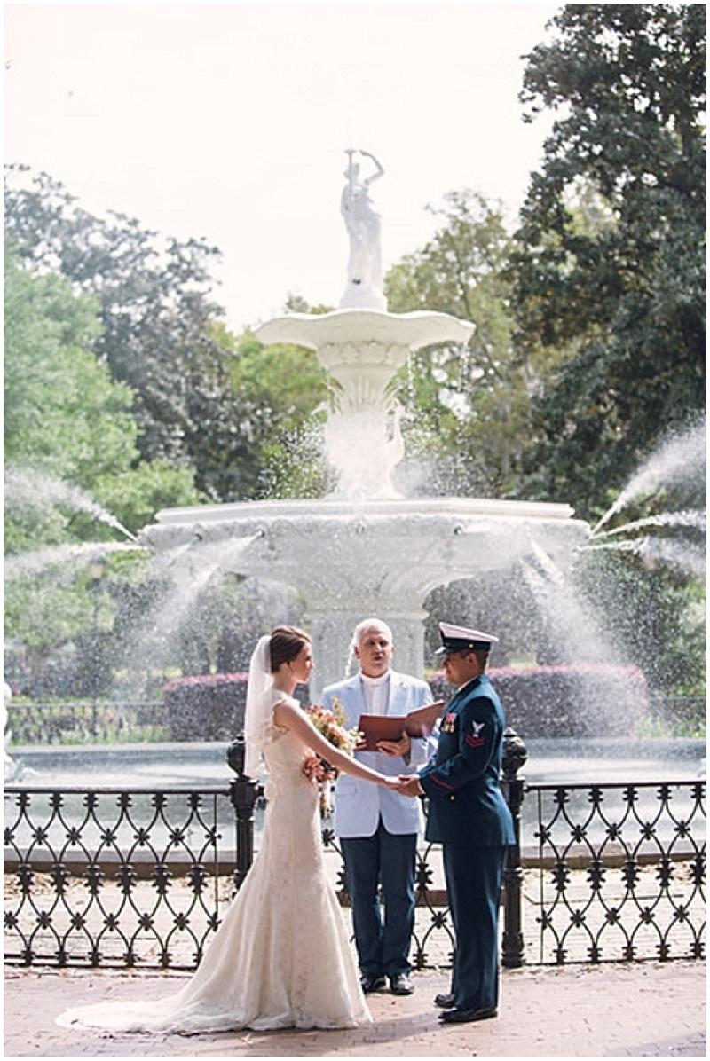 Savannah outdoor ceremony
