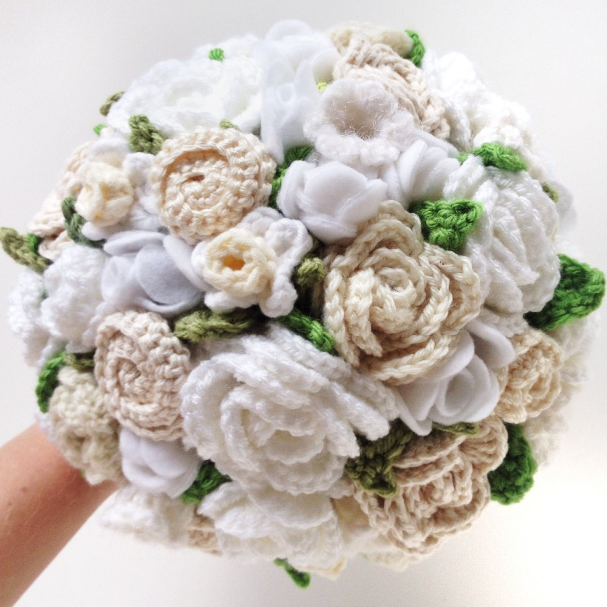 crochet wedding bouquet fabric wedding bouquets from etsy 3191