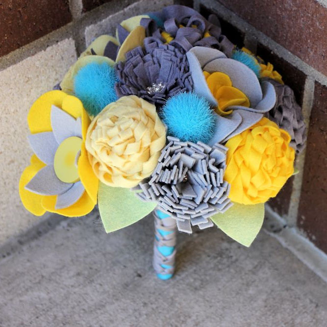 Fabric Wedding Bouquets from Etsy