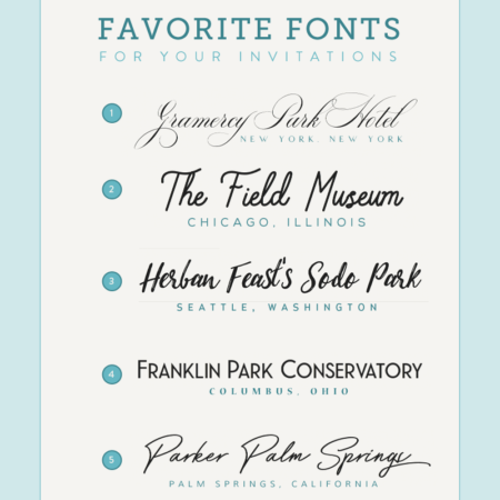 font pairings inspired by wedding venues