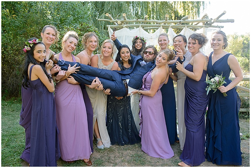 Blue and Purple Outdoor Wedding | The Budget Savvy Bride