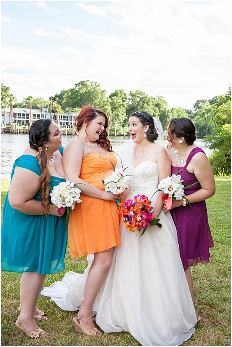 mismatched colorful bridesmaid dresses