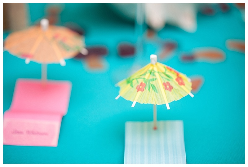 drink umbrellas wedding decor
