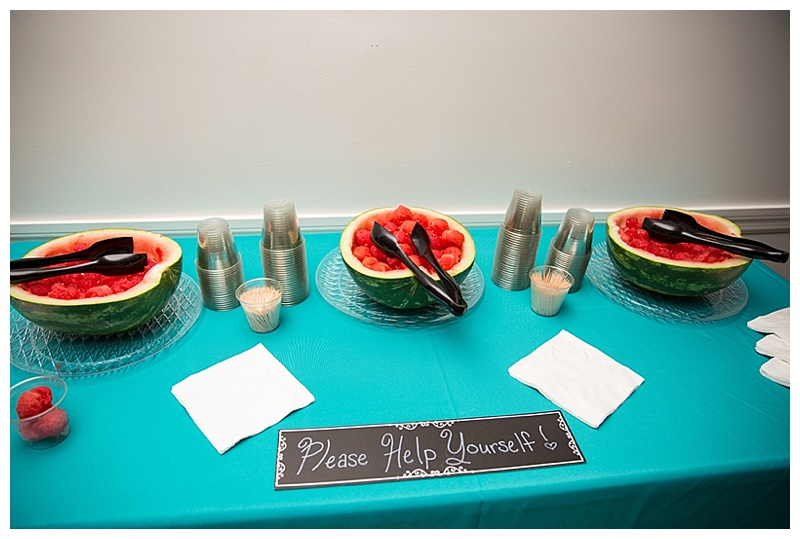 watermelon at wedding reception