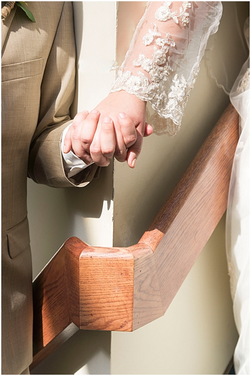 holding hands before wedding