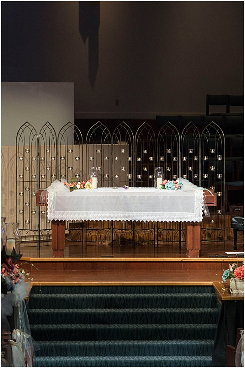 wedding altar table
