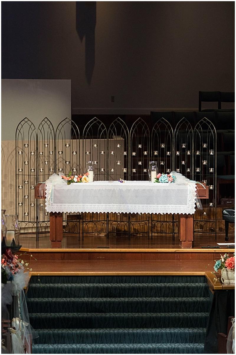 wedding altar table