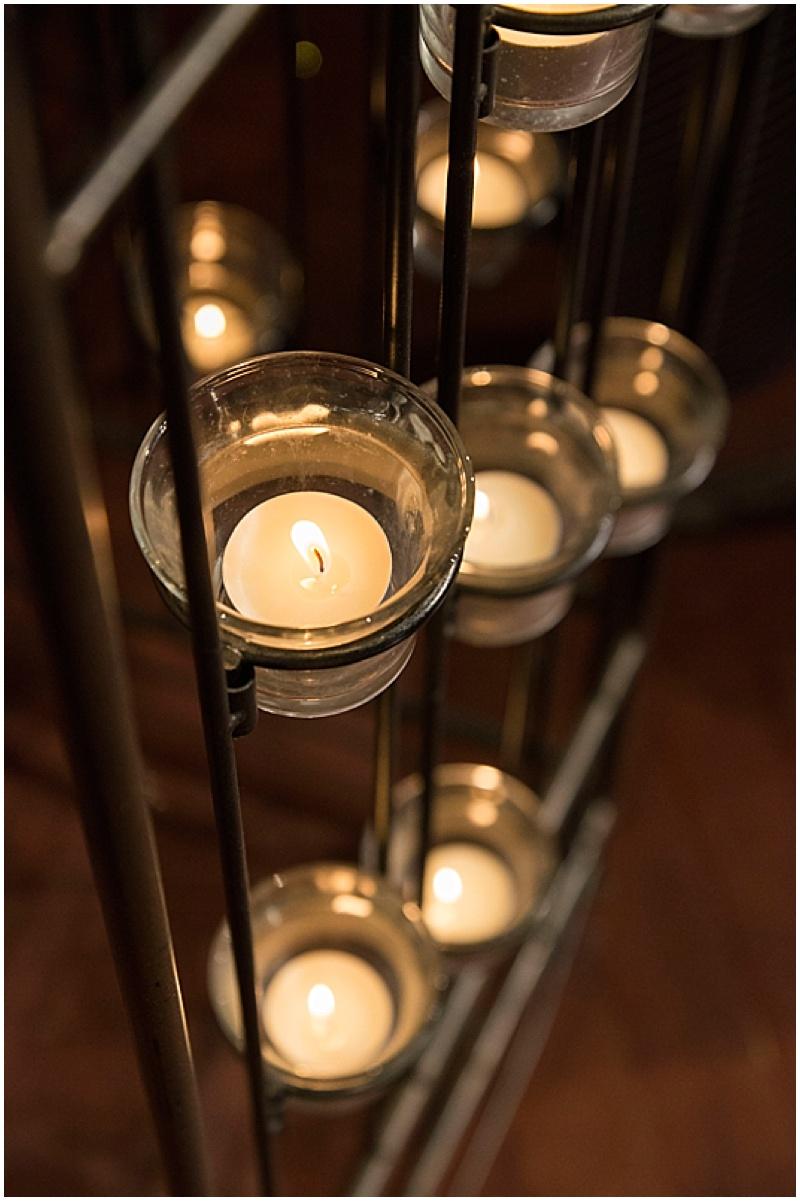 wedding candle decor