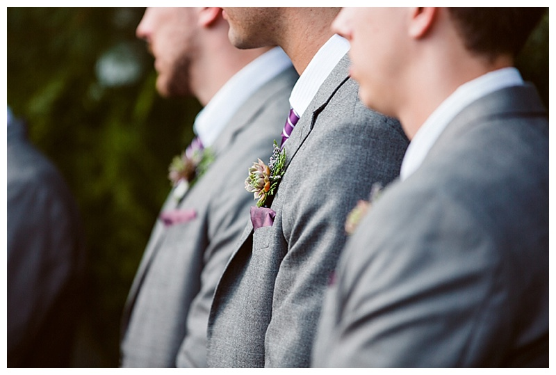 gray groomsmen attire