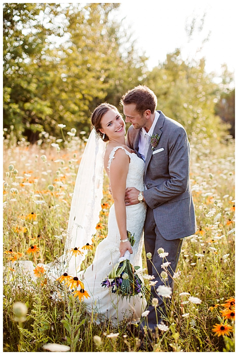 wildflower field couple shots