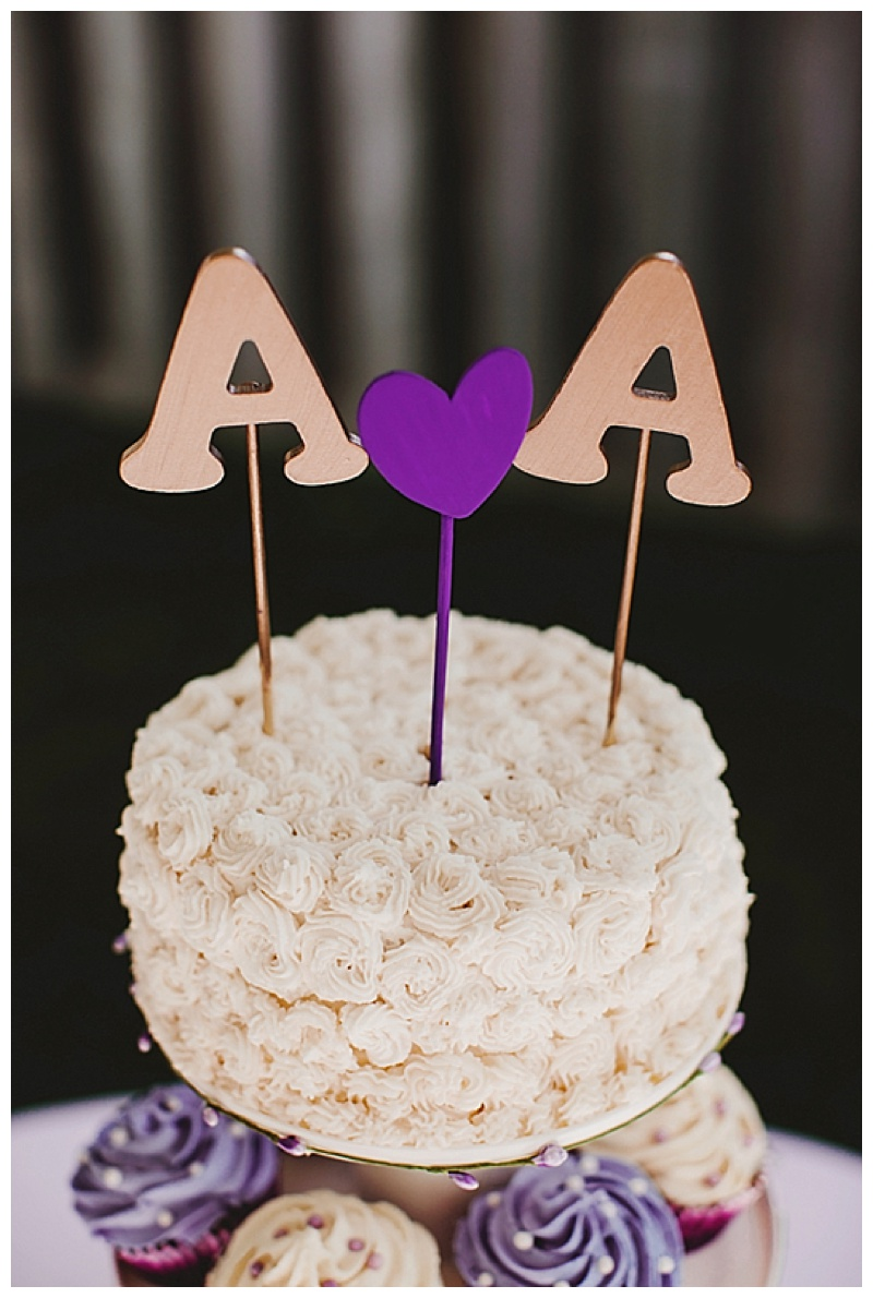 initial wedding cake topper