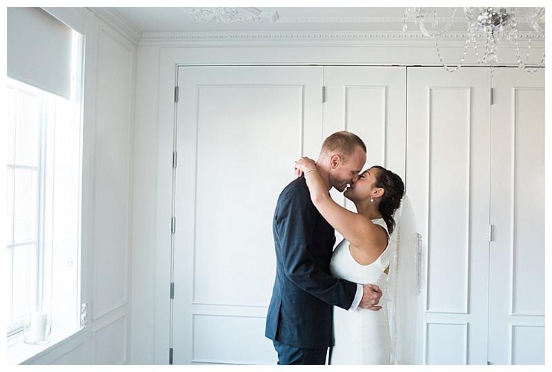indoor wedding couple photos