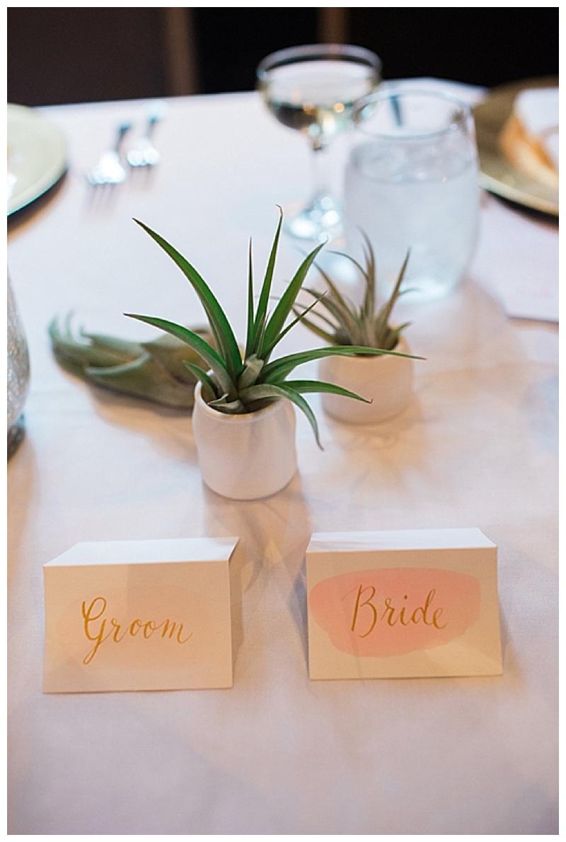 succulent wedding reception decor