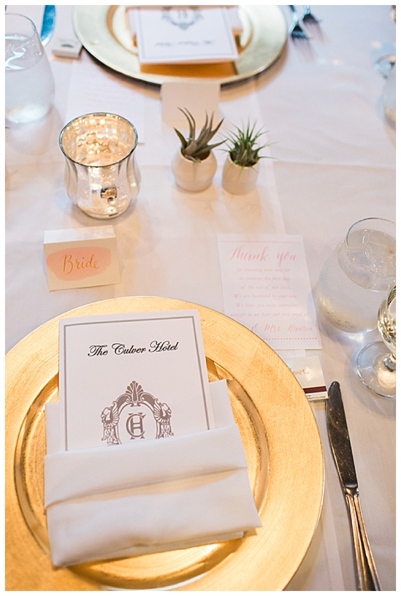 gold and cream wedding reception setting