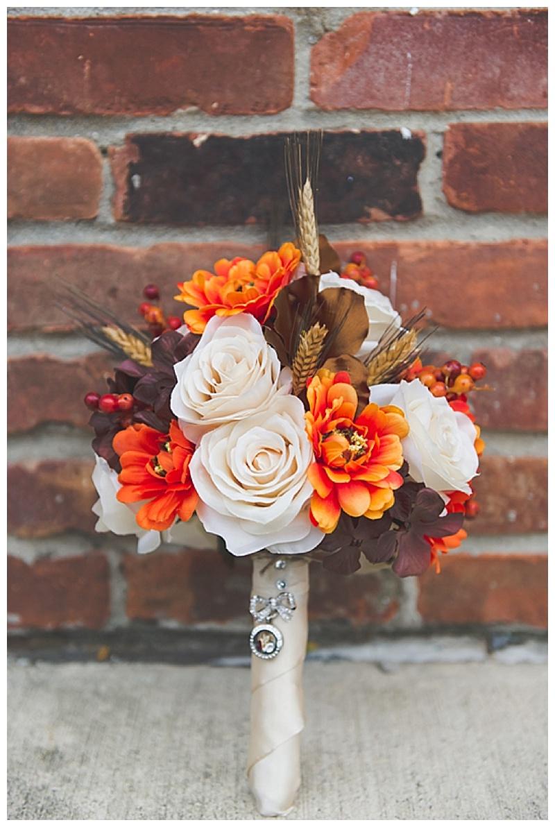 orange, cream and brown bouquet