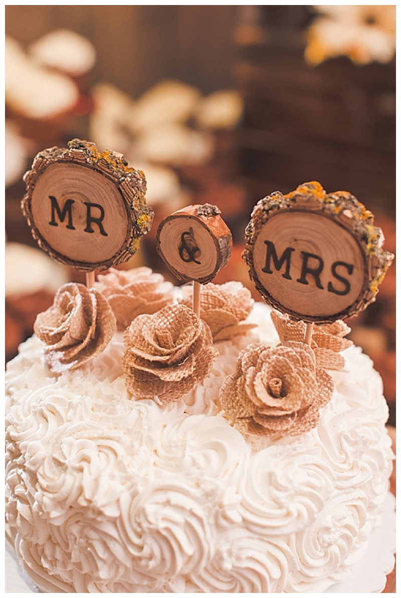 wood cake topper