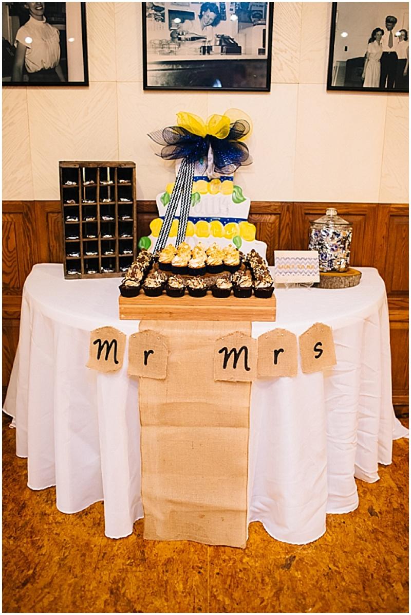 wedding cupcake table