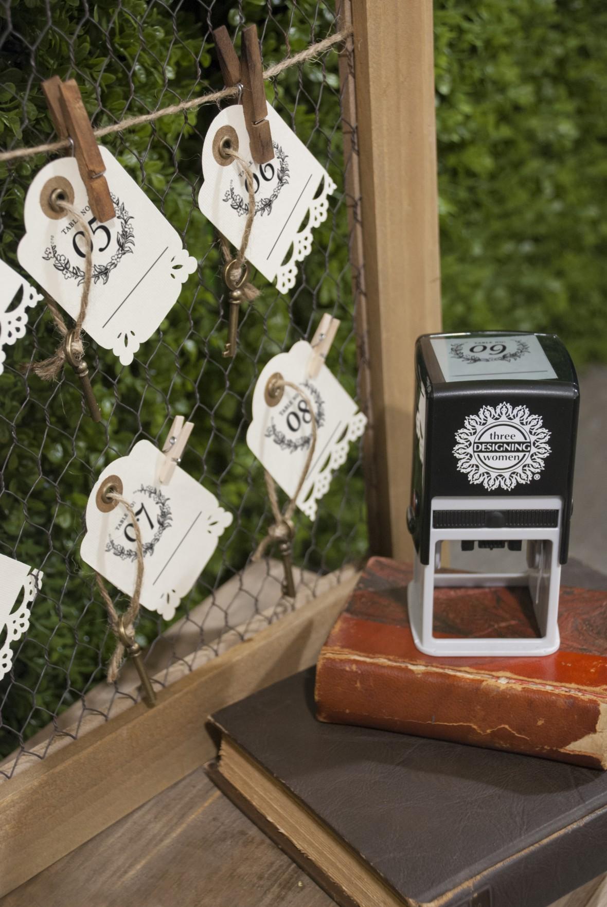 Three Designing Women Stamp Kit Escort Card