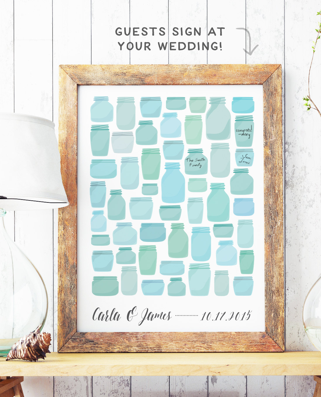 Creative Guest Book Alternatives from Etsy! | The Budget Savvy Bride